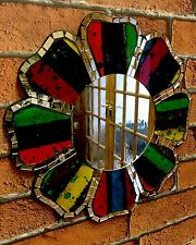Hippie Style Mosaic Colourful Wall Mirror Flower Power 1960's Hippy