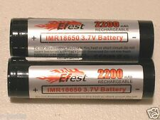 2 pc EFEST IMR 18650 Li-MN BATTERY HIGH DRAIN 3.7v 2250mAh 10a CONTINOUS F.T.