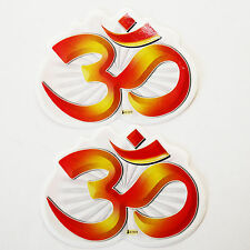 Aufkleber Sticker 2 x OM, Indien Goa Hippie God-Stickers 8 x 6 cm, 67