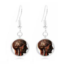 Anatomy Glass Dome Earrings Art Photo Tibet silver Earring Jewelry #15
