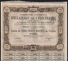 1878 Paris: compagnie PARISIENNE D 'Eclairage par l' pero