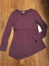 Cute MILK NURSINGWEAR Nursing Maternity Top Purple Small