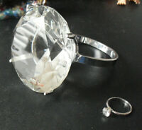 """Unique Large Cut Glass Store Showcase Display Diamond Ring 3 1/4"""" Wide LOOK"""