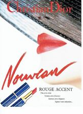 Publicité Advertising 087  1992  Dior  maquillage rouge à lèvres Accent
