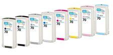 8x Tinte HP 70 DesignJet Z2100 Z3100 / C9449A C9452A C9453A C9454A C9455A C9390A