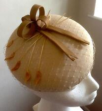Beige, Nude, Round, Kate Style Hat 18 cm diameter