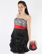 16W 1X NWT Black/RED/White ZEBRA pinup ROCKABILLY Bubble Hem SATIN DRESS