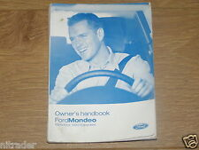 FORD MONDEO OWNERS MANUAL HANDBOOK  2000 - 2007   FREE UK POSTAGE
