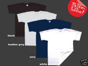 2 FRUIT of the LOOM SUPER PREMIUM Plain T-Shirts XXXL