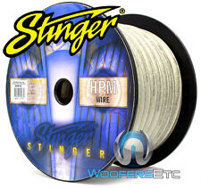 Stinger Sxw13c Car Audio 3 Gauge Power or Ground Silver Wire - 100ft Spool Cable