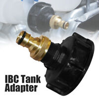 """IBC Tank Adapter S60X6 Coarse Threaded Brass Garden Tap With 3/4"""" Hose Fitting"""