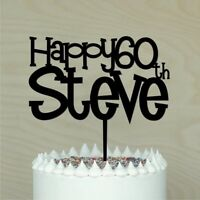 Happy Birthday Cake Topper, Custom with name & age, Personalised cake decor