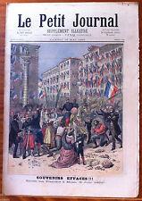 >Le petit Journal 13/05/1893; Entrée des Français à Milan, Souvenir éffacés !!