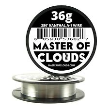 250 ft - 36 Gauge AWG A1 Kanthal Round Wire 0.127mm Resistance A-1 36g GA 250'