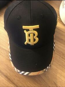 Brand New men's Burberry hat with gold color logo