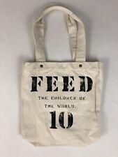 FEED 10 Beige Canvas Tote Bag