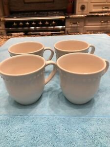 """Set of 4 Pottery Barn """"Emma"""" 12oz Mugs - Excellent Condition"""