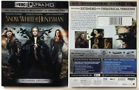 Snow White and the Huntsman (2012) 4K Ultra HD+Blu-ray 2-Discs w/RARE Slipcover