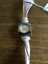 Ladies MORGAN Square Shaped SS Watch with Pink Straps W638/32