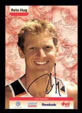 Reto Hug Autogrammkarte Original Signiert Triathlon + A 134038