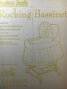 Delta Children Rocking Bassinet, Playtime Jungle