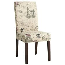 Pier 1 Imports Dana Slipcover Dining Chair SCRIPT SET 2 French Paris HTF NEW