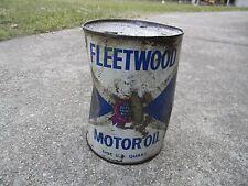Vintage Fleetwood Quart Oil Can Petroleum