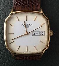 Vintage Bulova Accutron P1 Square Quartz Swiss Day/Date Wristwatch
