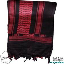 Unisex Shemagh Wrap, Keffiyeh, Military Head Scarf Woven Cotton - Black & Red