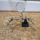 Fly Fishing Tying Vise Tool with Magnifying Glass & 2 Alligator Clips Holders