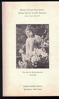 Dryden Theatre Film Society 1954 Program The Art of Entertainment 1924-1928