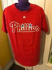 Unisex Philadelphia Phillies Rollins Tee, Red Size Large