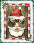 *NIB* Holiday SANTA - Garden Peeker Face Tree Face Sculpture Outdoor Art Decor