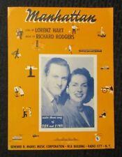 1932 MANHATTAN Sheet Music FN+ 6.5 Radio Theme Song of Jex & Jinx 6pgs