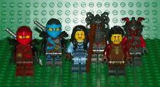 LEGO - Ninjago - Kai, Nya, Maya, Ray, Slackjaw Commander Raggmunk - Mini Fig Lot