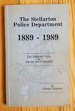 Stellarton Police Department 1889-1989, Nova Scotia, Canada History Law Enforce