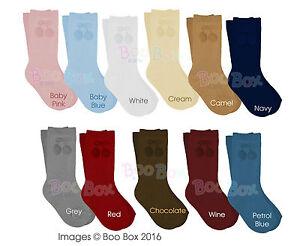 Baby Boys/Girls + Boys/Girls Knee High 3/4 Spanish Pom Pom Socks NB-5 Years