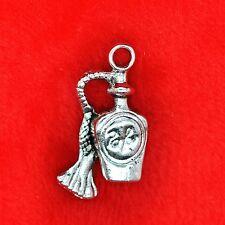 4 X Plata Tibetana Botella De Perfume Girly encontrar Molduras la fabricación de joyas