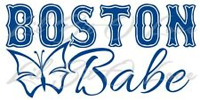 Boston Babe Vinyl Decal with Butterfly Sticker Car Auto Vehicle