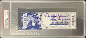 Mariano Rivera Signed Full Ticket NYY #652 Final Game Save Insc PSA/DNA Auto 10