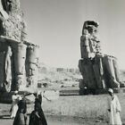 Egypt Colossi of Memnon Statues Thebes Pharaoh Amenhotep III Stereoview F312
