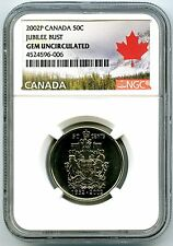 1952 2002 P CANADA 50 CENT HALF DOLLAR JUBILEE BUST NGC GEM UNCIRCULATED RARE !!