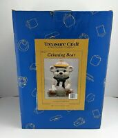 Treasure Craft Sculpted Cookie Jar - Grinning Bear - New