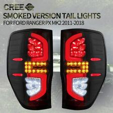 Pair LED Tail lights For Ford Ranger PX MK 2011-2018 XLT Raptor Wildtrak Black