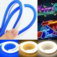 5m Neon LED Light Glow EL Wire String Strip Rope Tube Decor Car Party Bar Sign