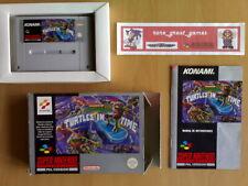 ★ TURTLES IV TURTLES IN TIME Konami Super Nintendo SNES Super NES PAL ESP☆