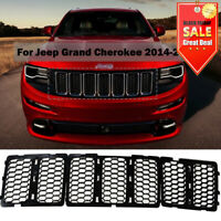 Black Front Mesh Grill Insert Decor Kit For Jeep Grand Cherokee 2014 2015 2016