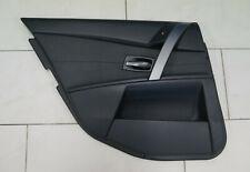 BMW 5er E60 E61 Türverkleidung Tür hinten links Fahrerseite Leder Dakota Schwarz