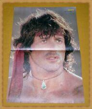 RAMBO (Sylvester Stallone) - doppelseitiges 80er Bravo Poster