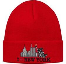 SUPREME I Love NY Beanie Green Pink Black box logo camp cap new york F/W 17